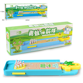 Creative Interactive Mini Frog Bowling Pinball Launcher Set Desktop Hand Eye Coordination Puzzle Game Toy