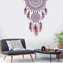 时尚客厅沙发背景墙贴纸创意手绘羽毛花纹贴画北欧壁纸自粘JM7346