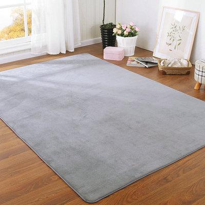 加厚纯色图案珊瑚绒地毯现代家用客厅卧室床边榻榻米爬行垫满铺定