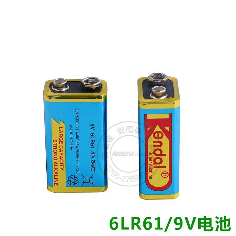 环保9V碱性电池 现货供应万用表无线话筒用组合6LR61电池