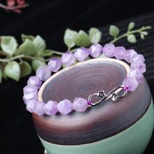 随型角度紫晶手链流行饰品薰衣草紫水晶手串简约个性女款批发代发