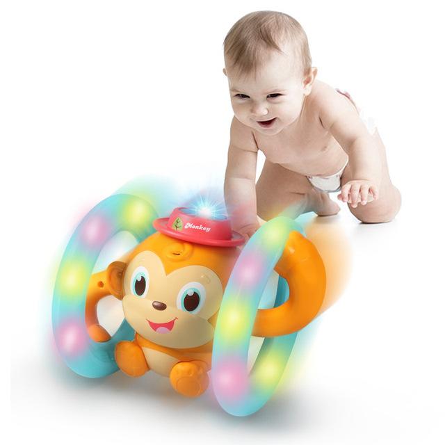 Meibeile điều khiển giọng nói thông minh 1 đến 3 tuổi khỉ câu chuyện âm thanh và ánh sáng chạm trẻ em câu đố giáo dục sớm thông minh Xiaomengqi Búp bê điện