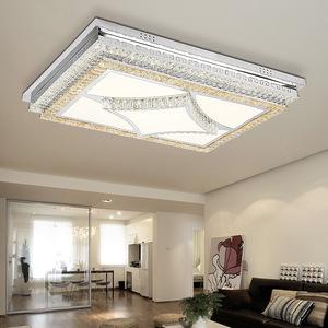 高品质吸顶灯客厅灯具无极调光长方形现代水晶灯简约l卧室创意灯