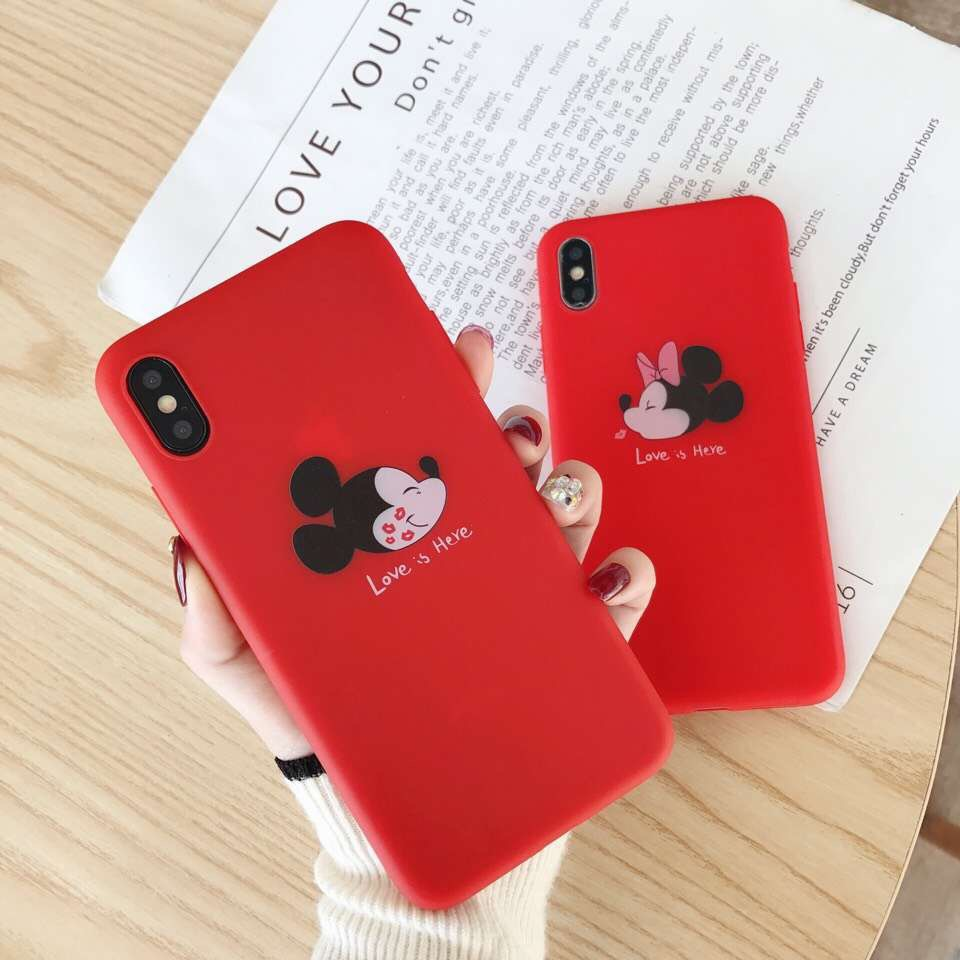 Cute cartoon Mickey Mouse iPhone xs mobile phone case for Apple 8/7plus silicone case soft shell 6s female models