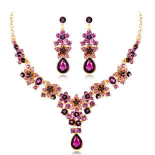 2019 Bridal Necklace and Earring Set Five-pointed Star Alloy Female Necklace and Earring Two Piece Set Jewelry Set