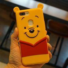 OPPO R11s plus手机保护套 立体卡通维尼熊硅胶套 X9s手机外壳