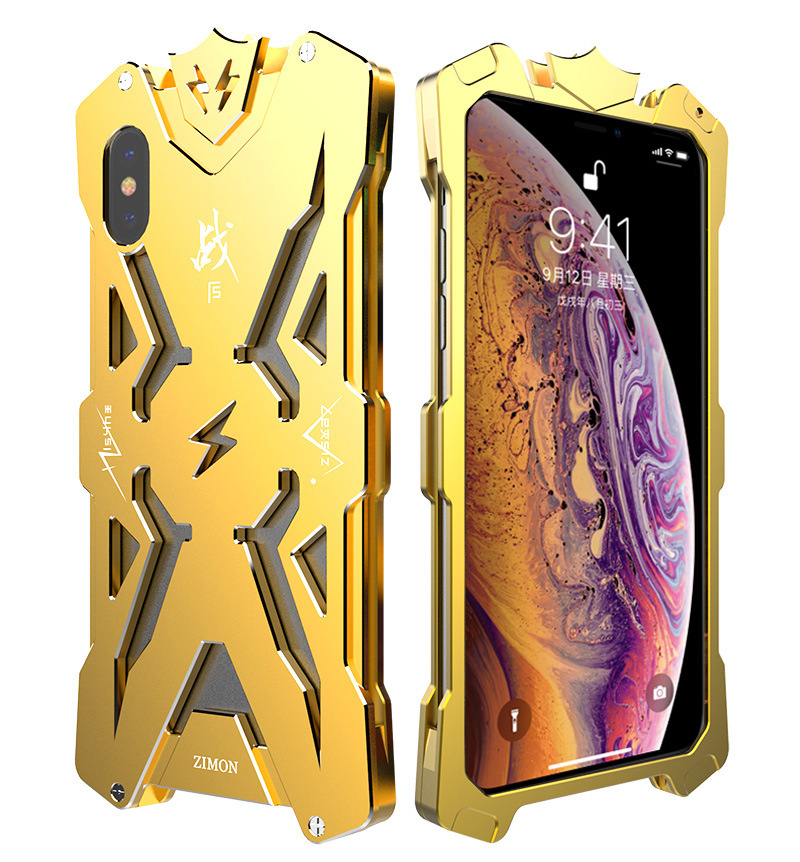 SIMON THOR Aviation Aluminum Alloy Shockproof Armor Metal Case Cover for Apple iPhone XS Max & iPhone XR & iPhone XS & iPhone X