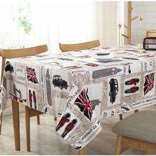 桌布 台布 英国士兵纯棉加厚帆布餐桌布 英伦风印花酒店桌布批发