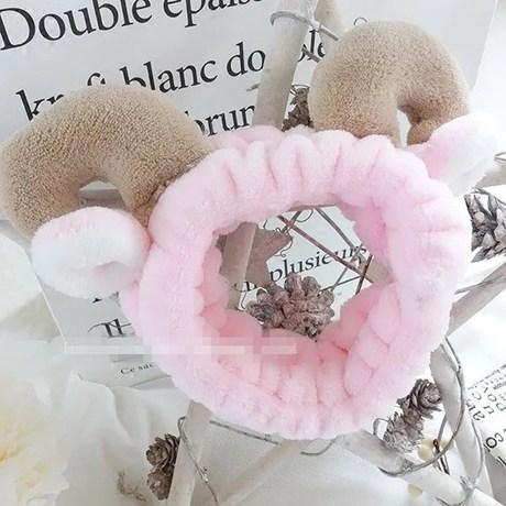 Nhật Bản và Hàn Quốc siêu dễ thương bán sừng ba chiều dễ thương rửa mặt mặt băng tóc mặt nạ mặt nạ trang điểm headband phụ kiện tóc mềm