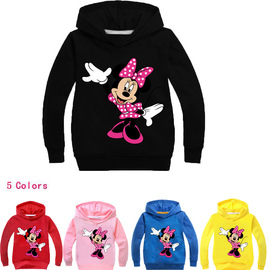Big boy's new girl hoodie Spring and autumn children's long-sleeved shirt Jacket sweater T066