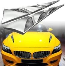 汽車仿真通風口 引擎蓋裝飾風口側風口新款 汽車機頭蓋改裝風口
