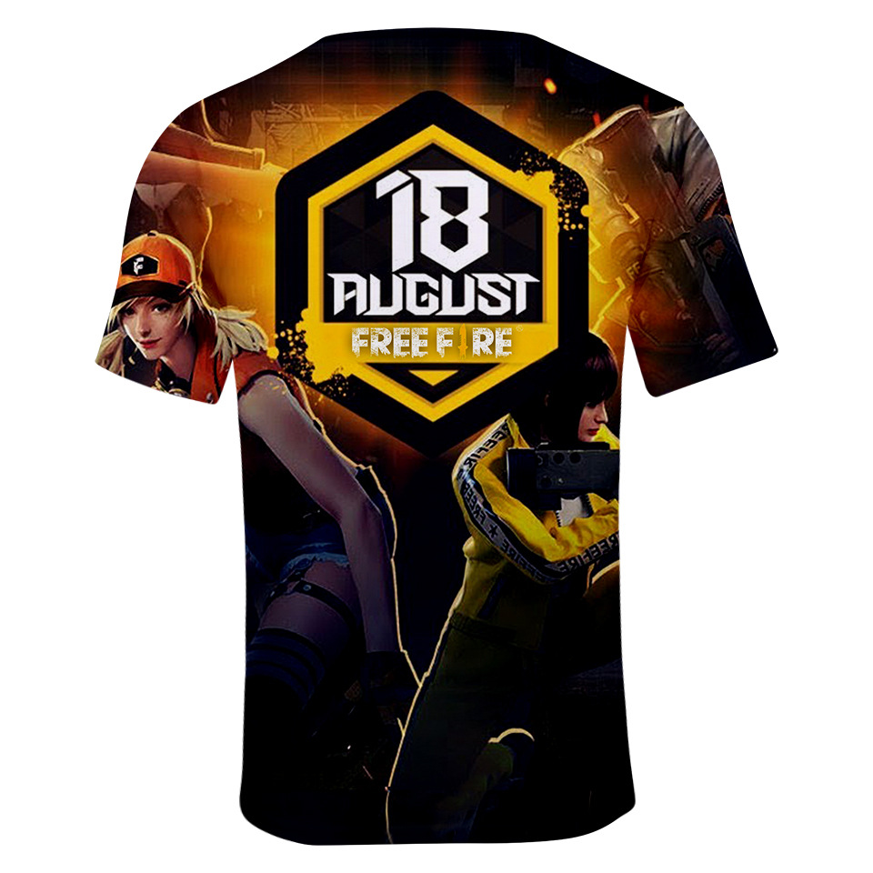 6a8c23f184e0cd Free Fire Characters 3D Printed Casual Mens Designer Tshirts Summer ...