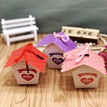 韓版屋子飾品盒簡易折疊首飾盒蛋糕禮物多用包裝盒喜糖紙盒 禮品