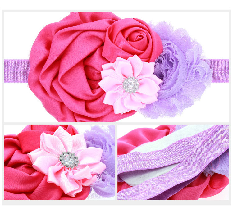 Cloth Simple Flowers Hair accessories  yellow  Fashion Jewelry NHWO0729yellow