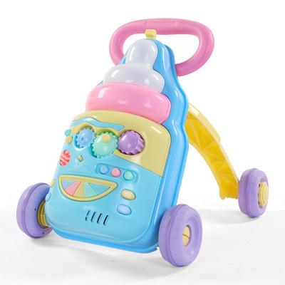 新款宝宝学步推车防侧翻婴儿学走路助步车618个月学步车手推玩具