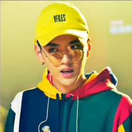 Korean trendy personality crooked eaves hat yellow baseball cap street fashion young men and women letter duck tongue hat