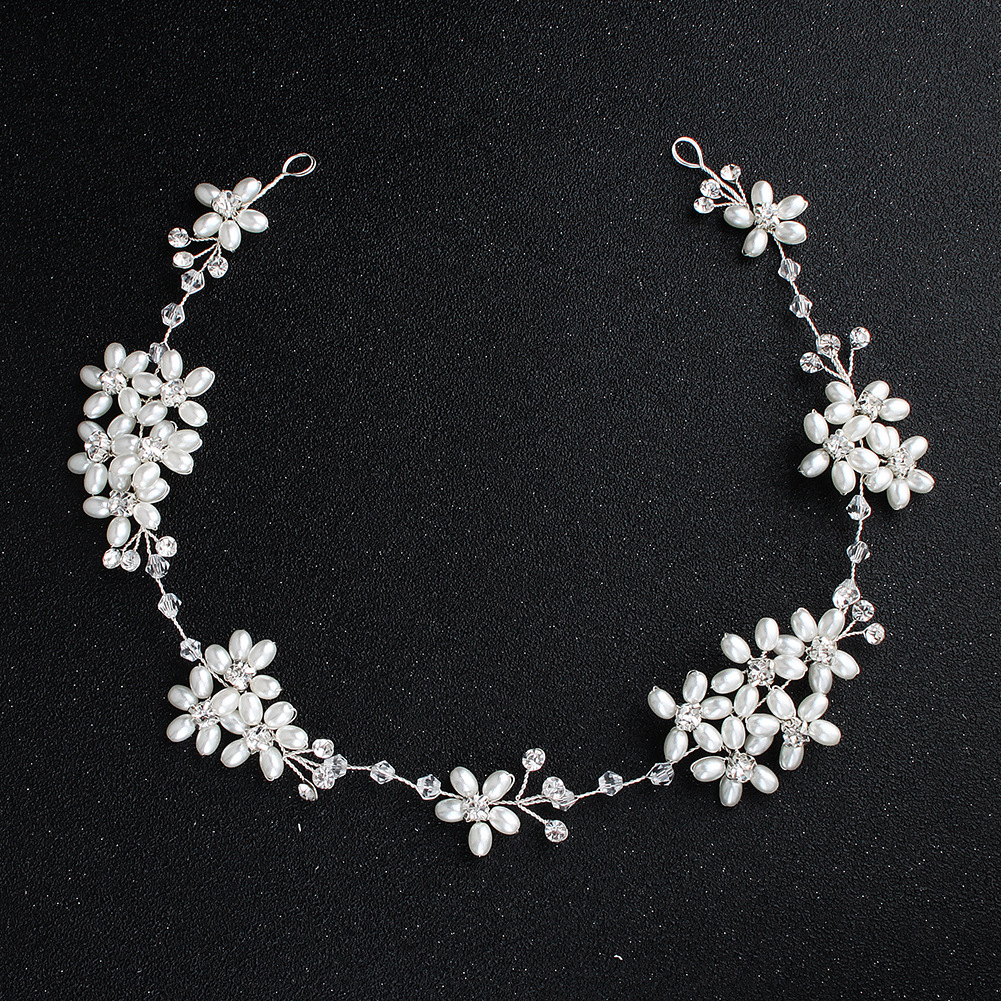 Beads Fashion Flowers Hair accessories  (Alloy) NHHS0562-Alloy