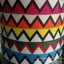 新款皮带厂织带创意花?#39057;用?#19977;角形印花织带服装包边条一件代发