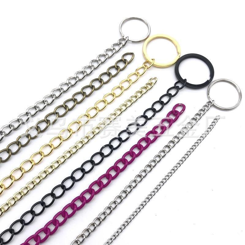 五金饰品链条供应优质环保箱包服饰钥匙链饰品磨链 金属铁链子