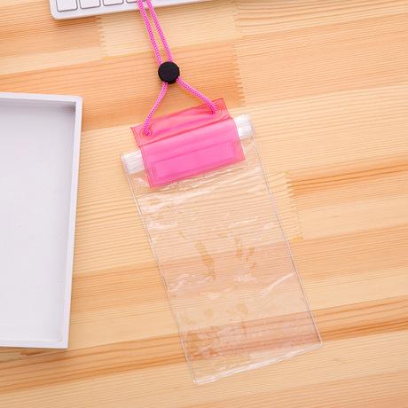 T đầy đủ trong suốt điện thoại di động túi chống nước PVC siêu trong suốt không thấm nước bao gồm bơi trôi ba lần túi bụi velcro