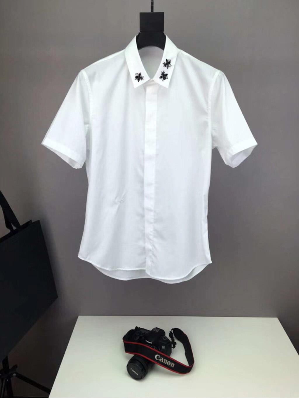 奢侈品男女裝微信微商代理代發 夏季男士襯衫純棉高品質男襯衣