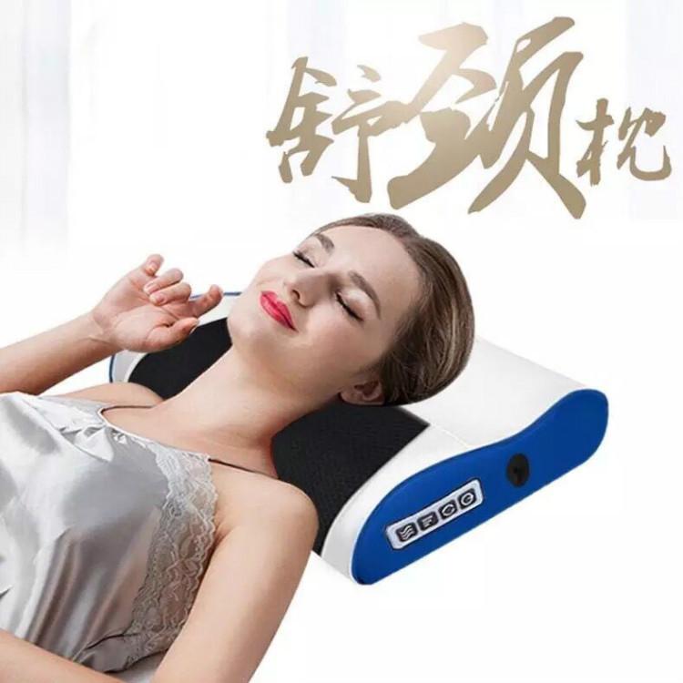 颈椎按摩家用全身按摩靠垫器颈部腰部肩部背部电动多功能按摩枕头