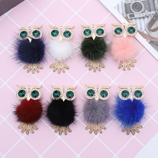 Creative diy animal jewelry, alloy crafts, diamond-studded owl, car air outlet pendant, one drop delivery