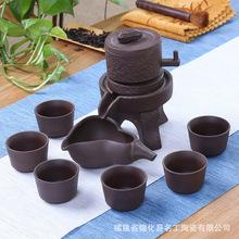 原礦宜興老紫泥懶人紫砂茶具一帆風順十頭半自動茶具禮盒套裝促銷