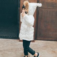 今日必抢中长款女童毛领棉外套童装连帽小宝宝羽绒棉衣保暖棉服