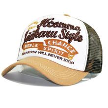 跨境爆款夏季帽子女士透气网帽字母鸭舌帽男士防晒遮阳棒球帽