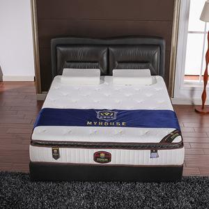 床垫席梦思定制 厂家加工软硬两用酒店天然乳胶弹簧床垫批发床垫