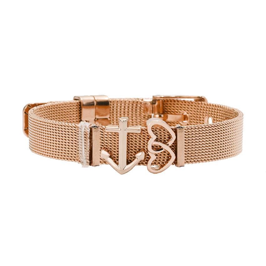 Titanium&Stainless Steel Fashion Sweetheart bracelet  (Steel color) NHHN0377-Steel-color