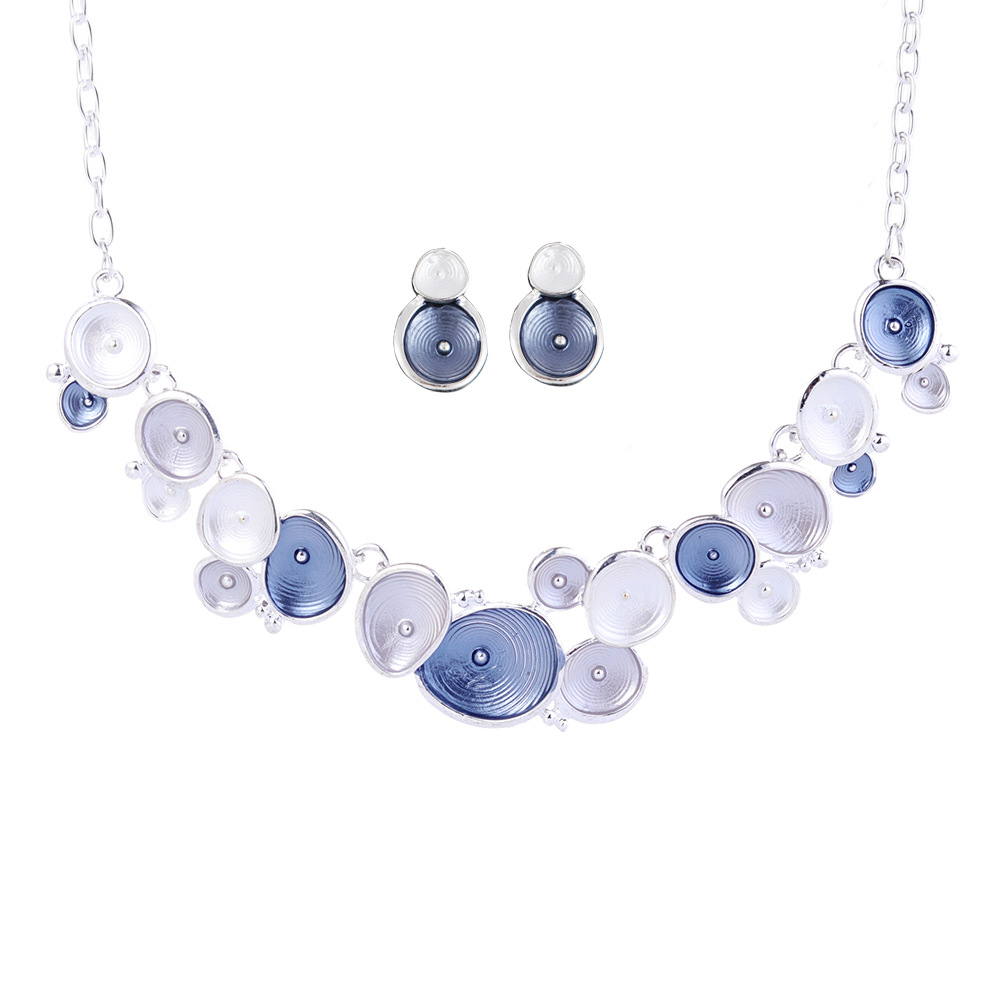 Alloy Fashionnecklace(blue) NHNMD4361-blue