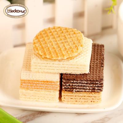 进口食品阿孔特小农庄威化饼干五种口味 休闲 零食 网红威化 包邮