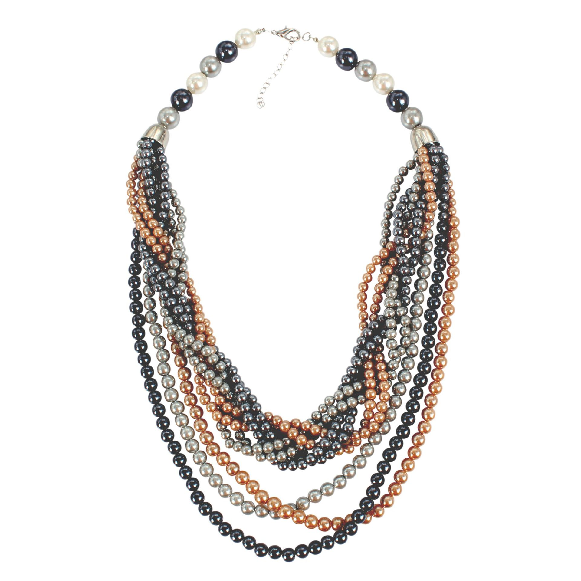 Beads Fashion Geometric necklace  (Color mixing) NHCT0387-Color-mixing