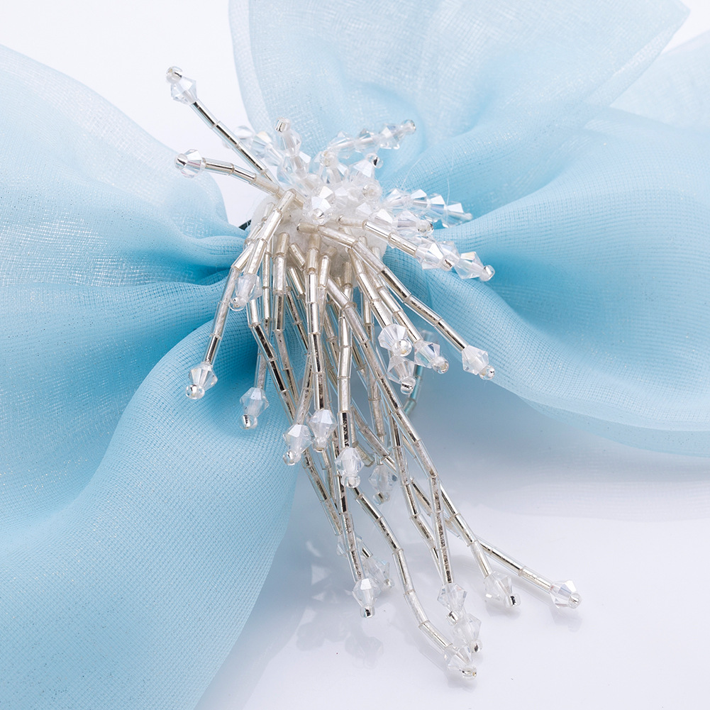 Alloy Fashion Bows brooch(blue) NHJE1196-blue