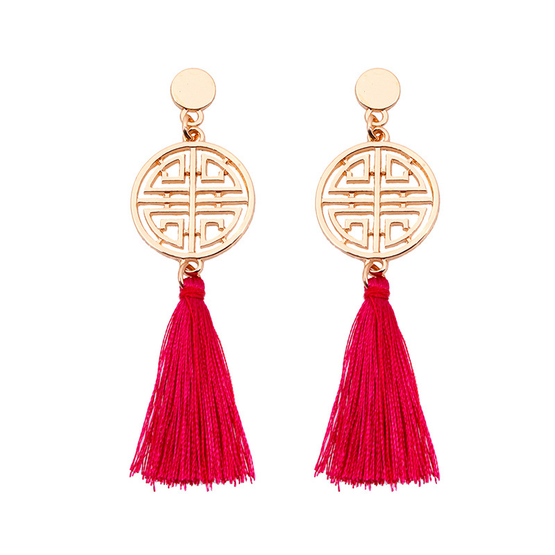 Alloy Fashion Tassel earring  (red) NHNMD4505-red