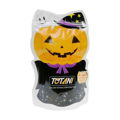 销售日本玩具包装南瓜彩印logo异形直立自封袋塑料贴骨包装印刷袋