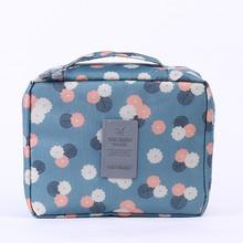 多功能防水牛津布定制韓國洗漱包 旅行收納包女士化妝包手提雙層