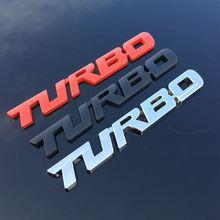 适用涡轮增压贴标 TURBO 尾箱车标3D立体贴标 汽车车贴运动贴标