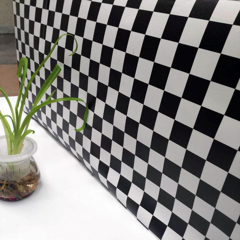 浴室墙贴黑白格装修主材砖纹自粘墙纸价格客厅电视墙装修效果图