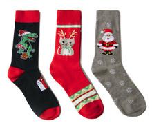 新款圣诞系列中筒男士棉袜个性潮流欧美圣诞袜跨进电商货源礼物袜