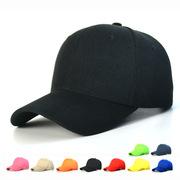 韩版帽子棒球帽光身鸭舌帽纯色遮阳帽光板男女士纯棉广告帽防晒厚