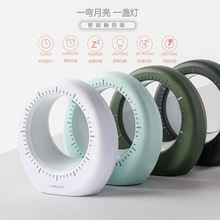 创意一线月亮时钟夜灯充电LED显示屏床头闹钟个性家居时尚礼品