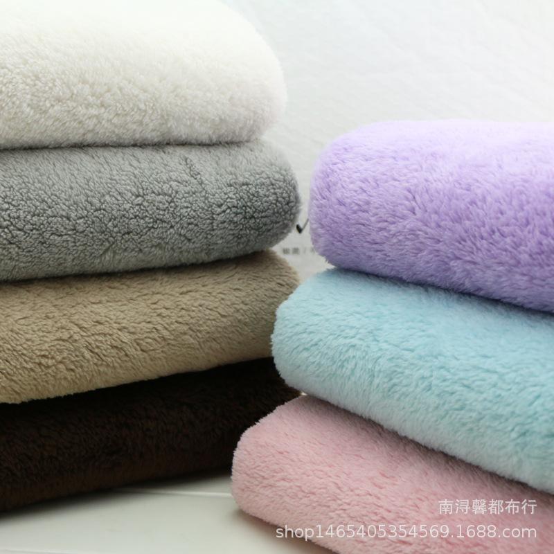 库存供应 超细纤维单双面珊瑚绒 素色圆点 透气素色单面珊瑚绒
