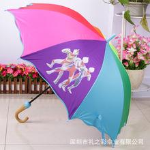 礼之彩厂家订制儿童伞创意弯头塑胶伞头 奥特曼包边儿童伞 礼品伞