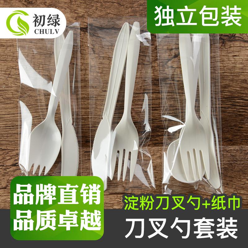 一次性餐具套装6寸刀叉勺独立包装多件套件套西餐套装餐具包100套