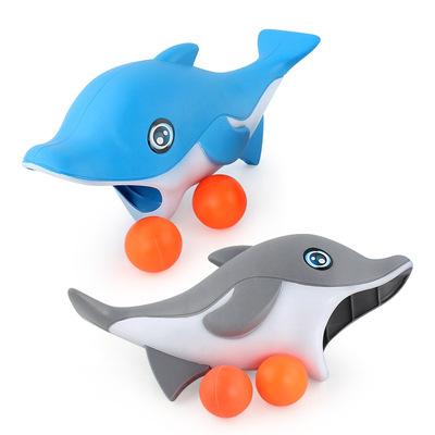 Mới bán buôn cha mẹ và con tương tác phim hoạt hình cá mập cá heo catapult bóng launch bóng ping pong nảy bóng