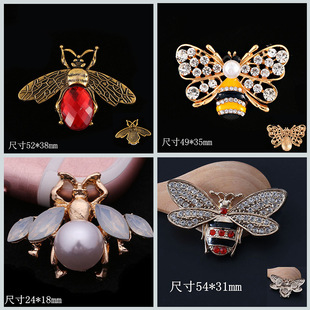 Factory direct creative diy jewelry accessories bee butterfly alloy accessories animal mobile phone shell stickers wholesale