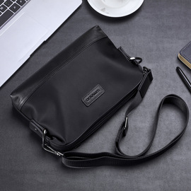 Man with Oxford camouflage casual handbag male canvas single shoulder slant bag small bag of leather